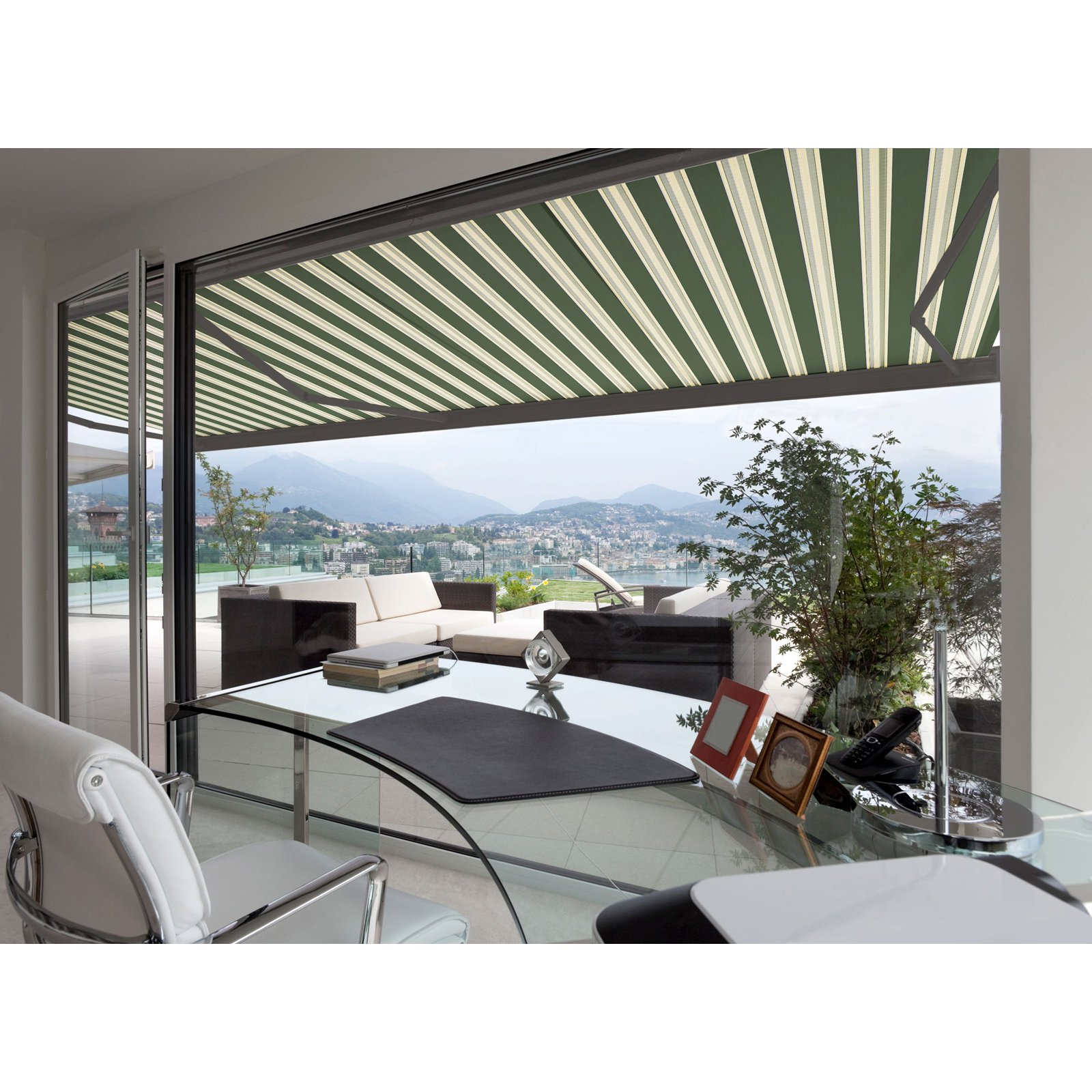 Image of 10FT C SERIES SEMI-CASSETTE MANUAL RETRACTABLE AWNING 8FT PROJ