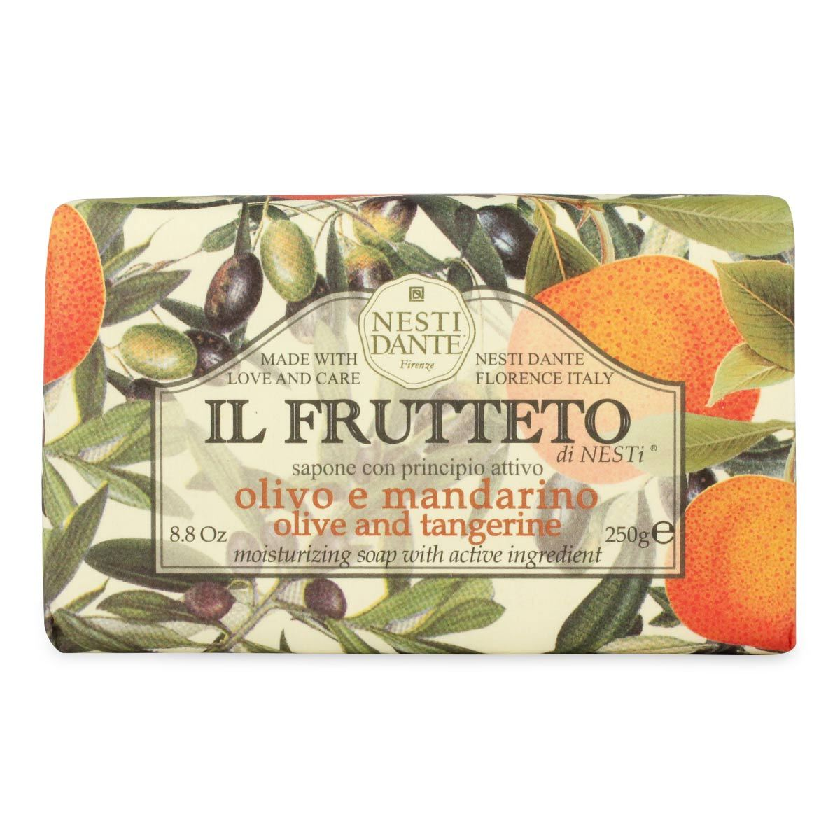 Nesti Dante IL Frutteto The Fruit Garden Olive & Tangerine Soap 8.8oz