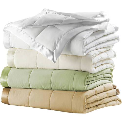 Microfiber Down-Alternative Blanket Choice of Colors, Multiple Sizes