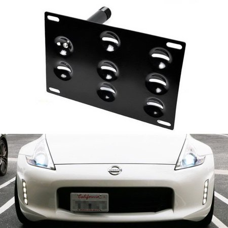 iJDMTOY JDM Style Front Bumper Tow Hole Adapter License Plate Mounting  Bracket For 2013-2018 Nissan 370Z (Excluding Nismo bumper)