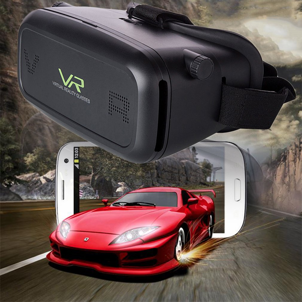 Black 3D Movie Video Games Virtual Reality VR Glasses for 3.5-6 inch p hone