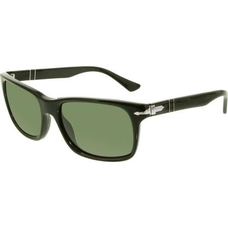 Persol Men's PO3048S-95/31-58 Black Rectangle (Persol Po 2803s Sunglasses)