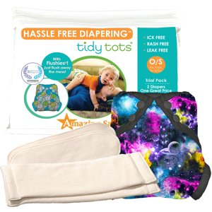 Tidy Tots Hassle Free 2 Diaper Trial Set with Galaxy Cover