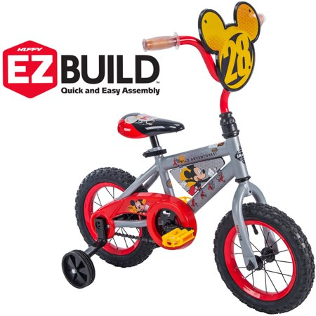 "Disney Mickey 12"" Boys' EZ Build Bike, by Huffy"