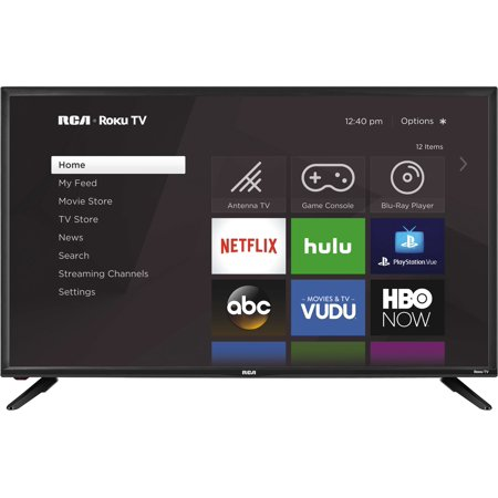 "RCA 40"" Class FHD (1080p) Roku Smart LED TV (RTR4060-W)"