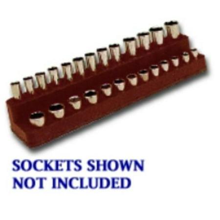 Mechanics Time Saver 728 1/4 In. Drive Magnetic Black Socket Holder 4-14mm