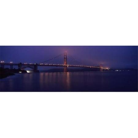 Images panoramiques PPI125177L Pont suspendu -clair- - l'aube vu de la jet-e de p-che Golden Gate Bridge de San Francisco Bay San Francisco Californie copie d'affiche par images panoramiques - 36 x 12 - image 1 de 1