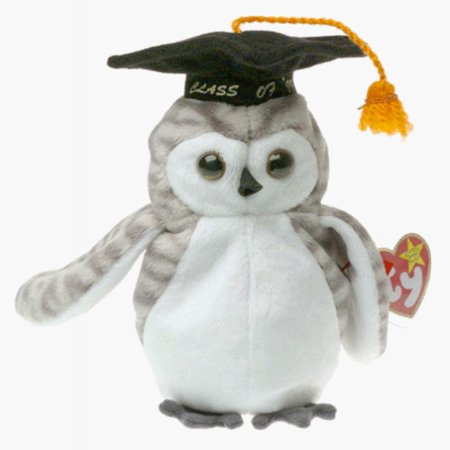 Ty Beanie Babies - Wiser the Owl - 1999 Graduation (Retired)