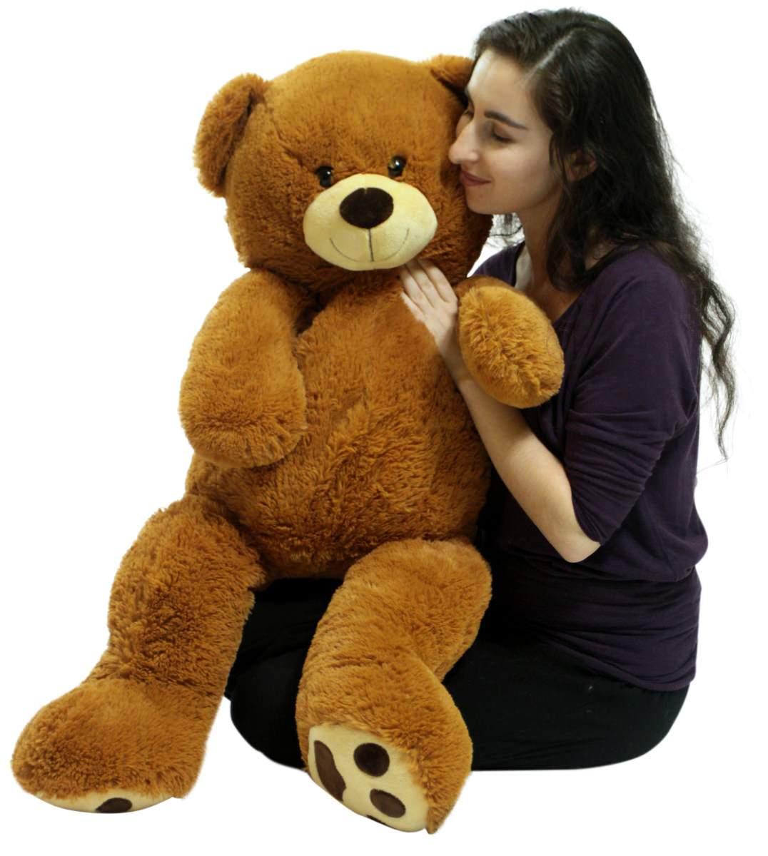 Big Plush 3 Foot Teddy Bear Extra Soft 36 Inch Honey Brown Jumbo