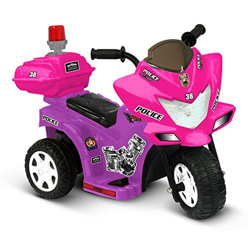 Ride On Toys Battery Powered Lil Patrol 6V Battery Powered Motorcycle by Kidz Motorz Color: Pink and Purple*