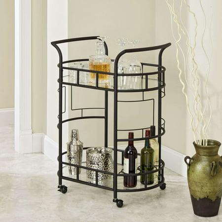 Tie Bar Car (Silverwood Sinclair 2-Tier Bar Cart, Hammered Bronze)