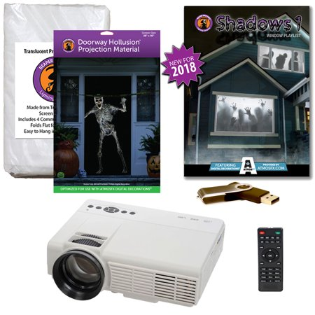 Halloween Projector Kit for Windows, Doors & Walls with Shadows AtmosFEARFx on USB + 2 Screens (R/D) + Projector](Art Projects For Halloween)
