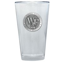Wake Forest University Pint Glass | 16oz | Detailed Fine Pewter Medallion | 1 Piece