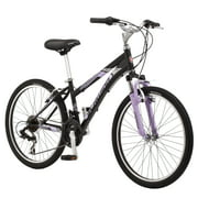 "Schwinn 24"" Girls Sidewinder Black and Pink Mountain Bike"