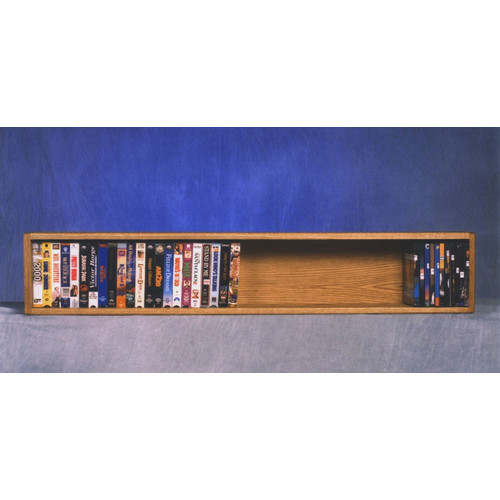 Wood Shed 100 Series 50 VHS Wall Mounted Multimedia Storage Rack