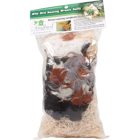 Bird Nesting Material - Songbird Essentials-Wild Bird Nesting Wreath Refill- Multi Colored