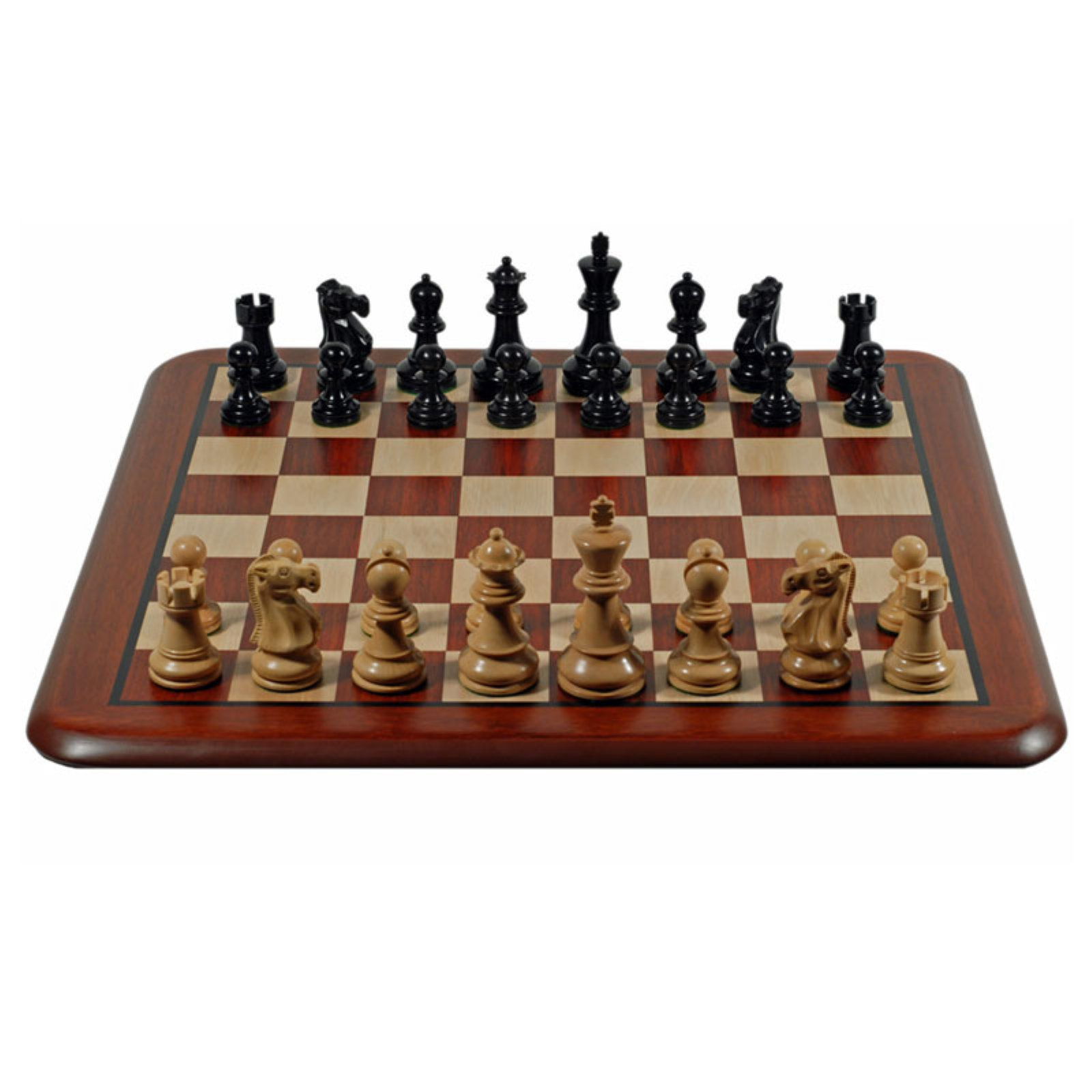 Grand Staunton Redwood Chess Set, Weighted Pieces and Redwood Board, 19""