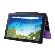 """RCA Viking Pro 10.1"""" Android 2-in-1 Tablet 32GB Quad Core, Purple (Google Classroom Ready)"""