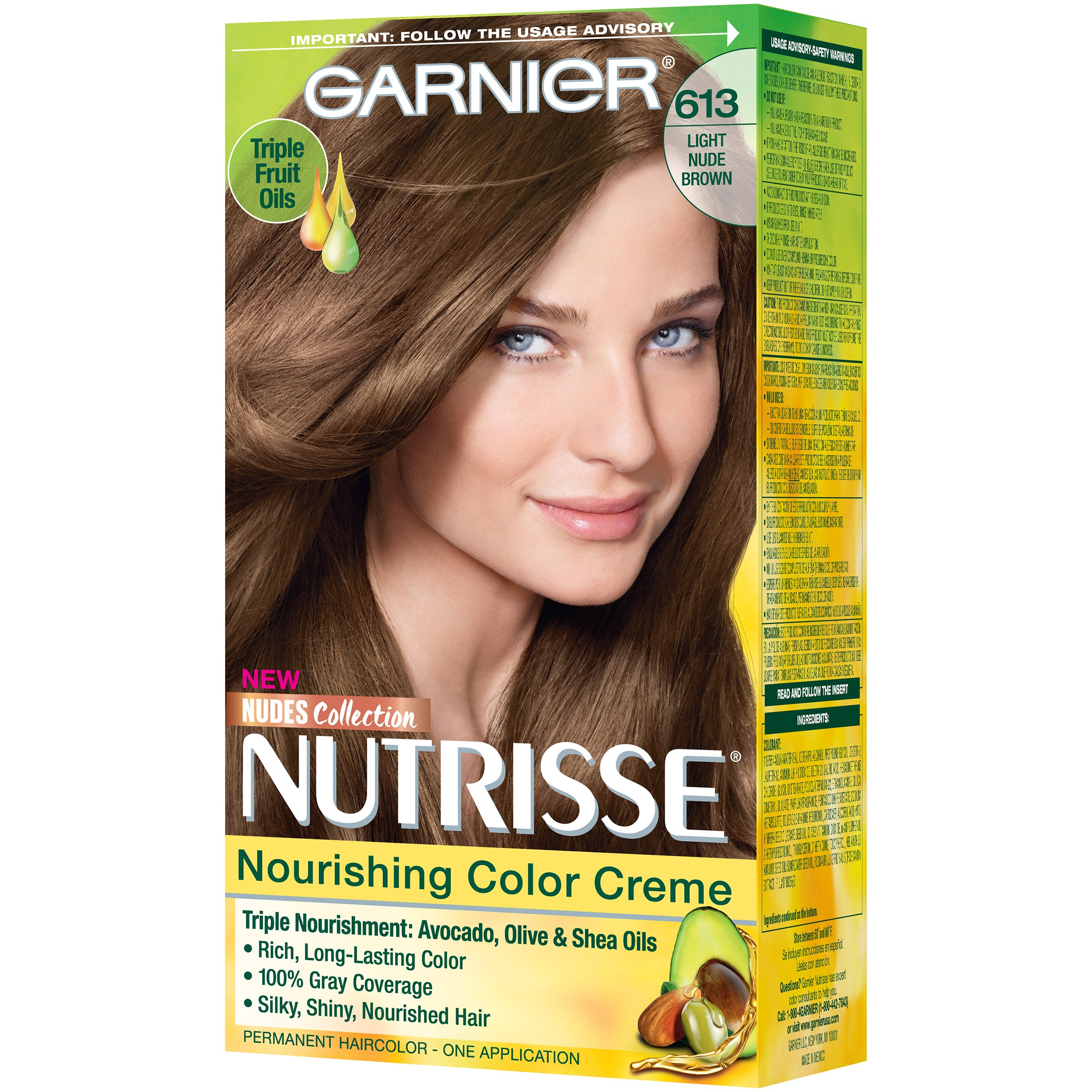 Garnier Nutrisse Nourishing Hair Color Creme Browns 51 Medium Ash