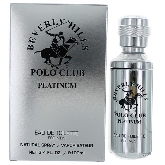 Beverly Hills Polo Club ampcbhp34s 3.4 oz Platinum by Beverly Hills Polo Club Eau De Toilette Spray for Men