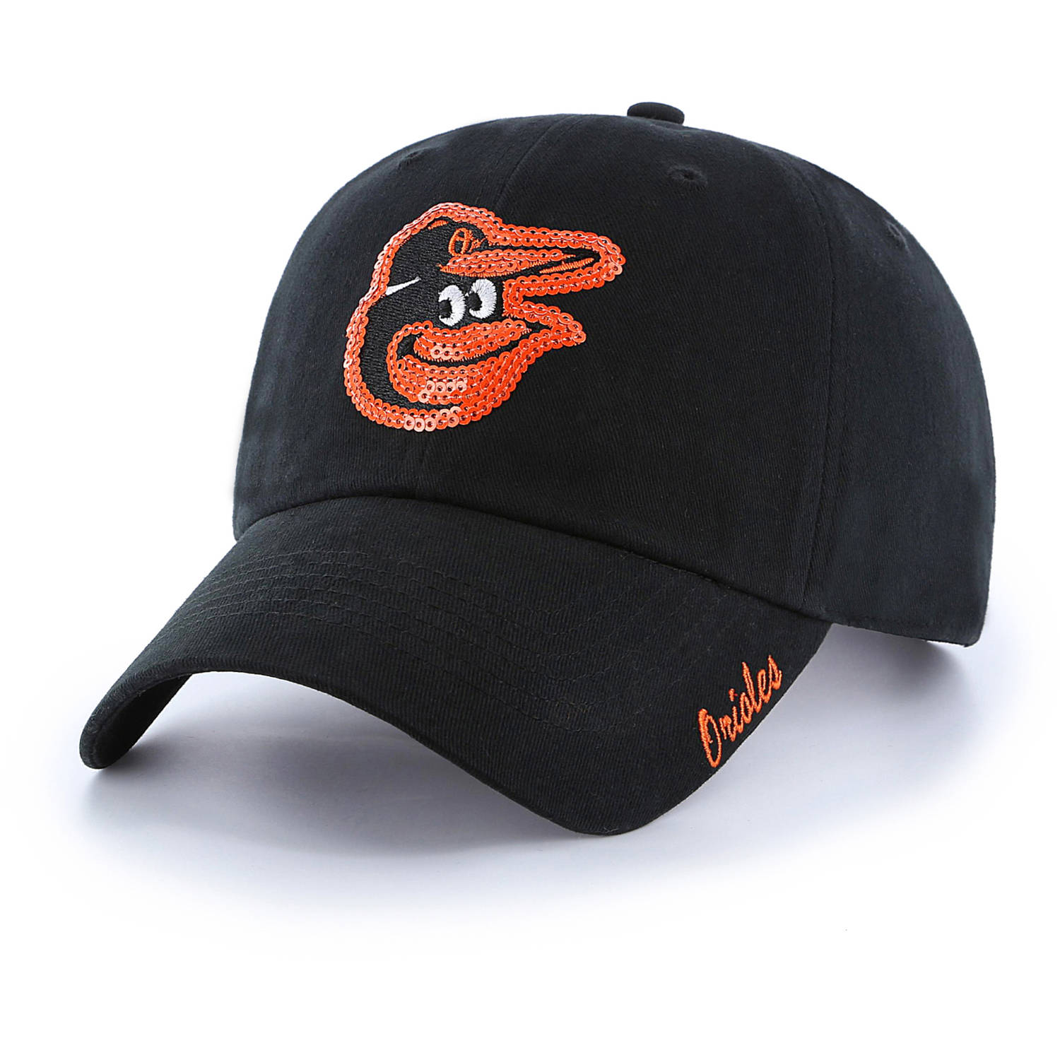 MLB Baltimore Orioles Sparkle Women's Adjustable Cap Hat by Fan Favorite by Overstock