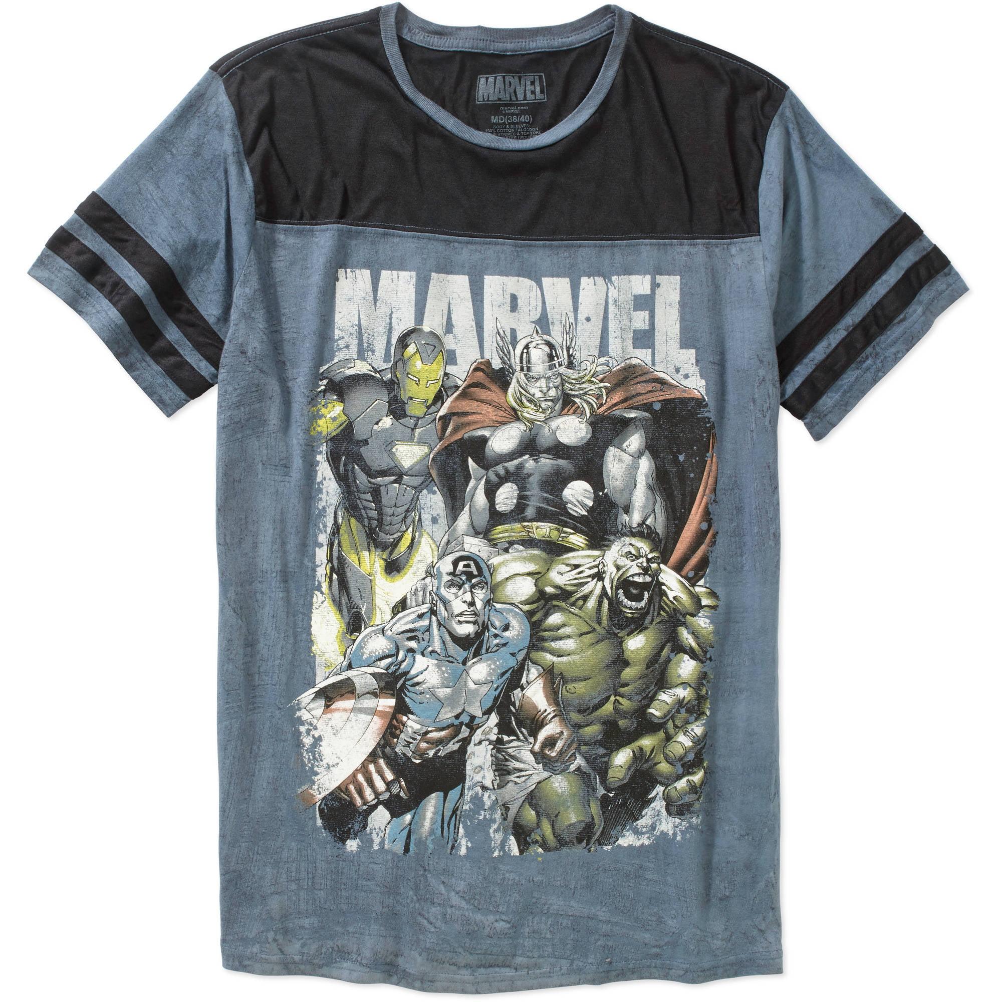 Marvel Avengers Men's Graphic Football Tee