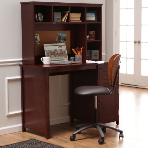 Piper Desk with Optional Hutch Set - Cherry