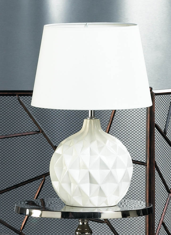 Small Table Lamps, Ceramic White Bedside Lamp Modern For Bedrooms Light