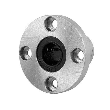 LMF12UU 12mm Inner Diameter 4 Bolt Flange Linear Motion Bushing Ball Bearing ()