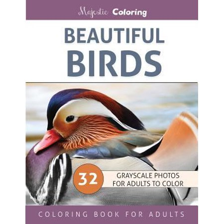 Beautiful birds grayscale photo coloring book for adults Coloring book for adults walmart
