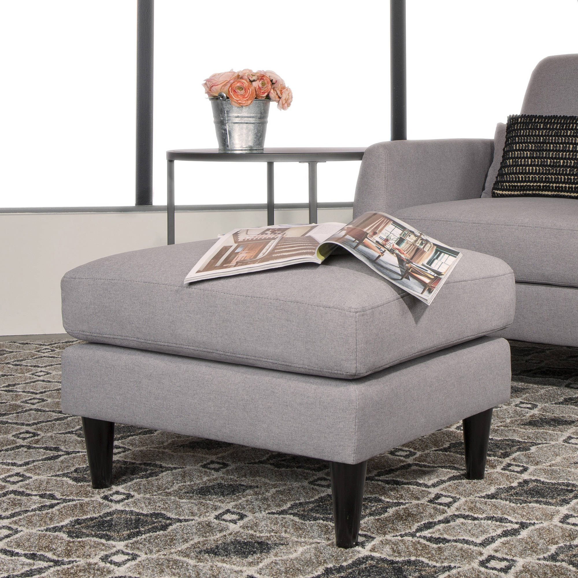 Studio Designs Home Allure Ottoman, Heather and Sand