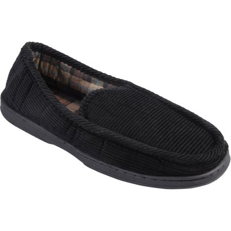 Daxx Men 39 S Lined Corduroy Moccasin Slipper Shoes