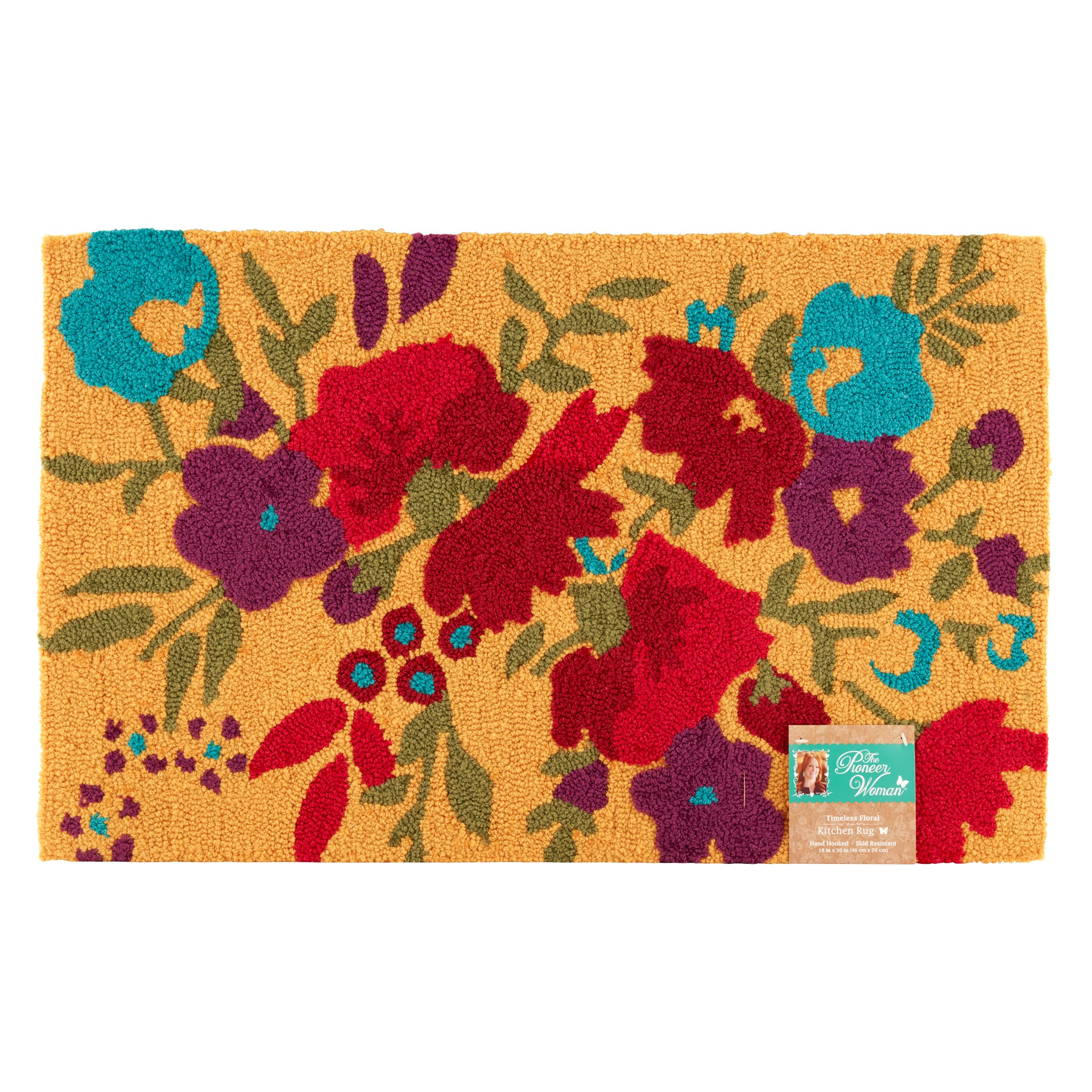 The Pioneer Woman Timeless Floral Kitchen Rug - Walmart.com