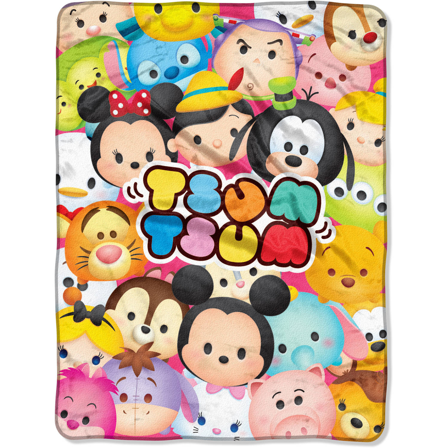 "Disney's Tsum Tsum ""Tsum Tsum Full"" 46"" x 60"" Micro Raschel Throw"