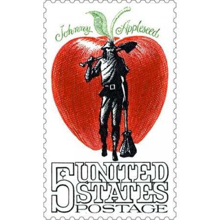 Johnny Appleseed Poster Print By  Us Postal Service