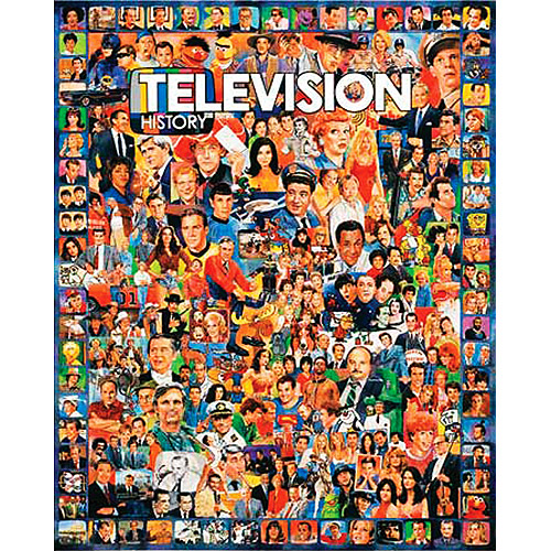 White Mountain Puzzles - Television History - 1000 Piece Jigsaw Puzzle