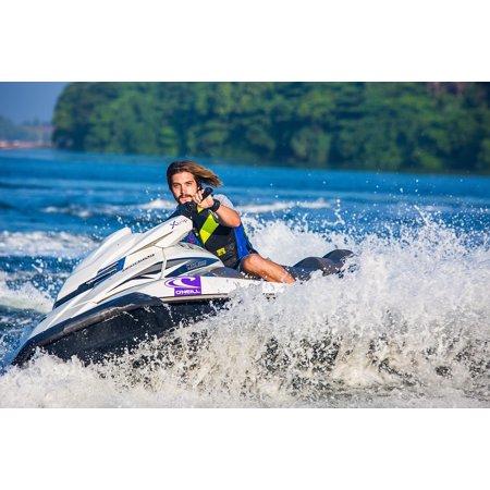 Laminated Poster Water Jet Ski Water Sport Ocean Water
