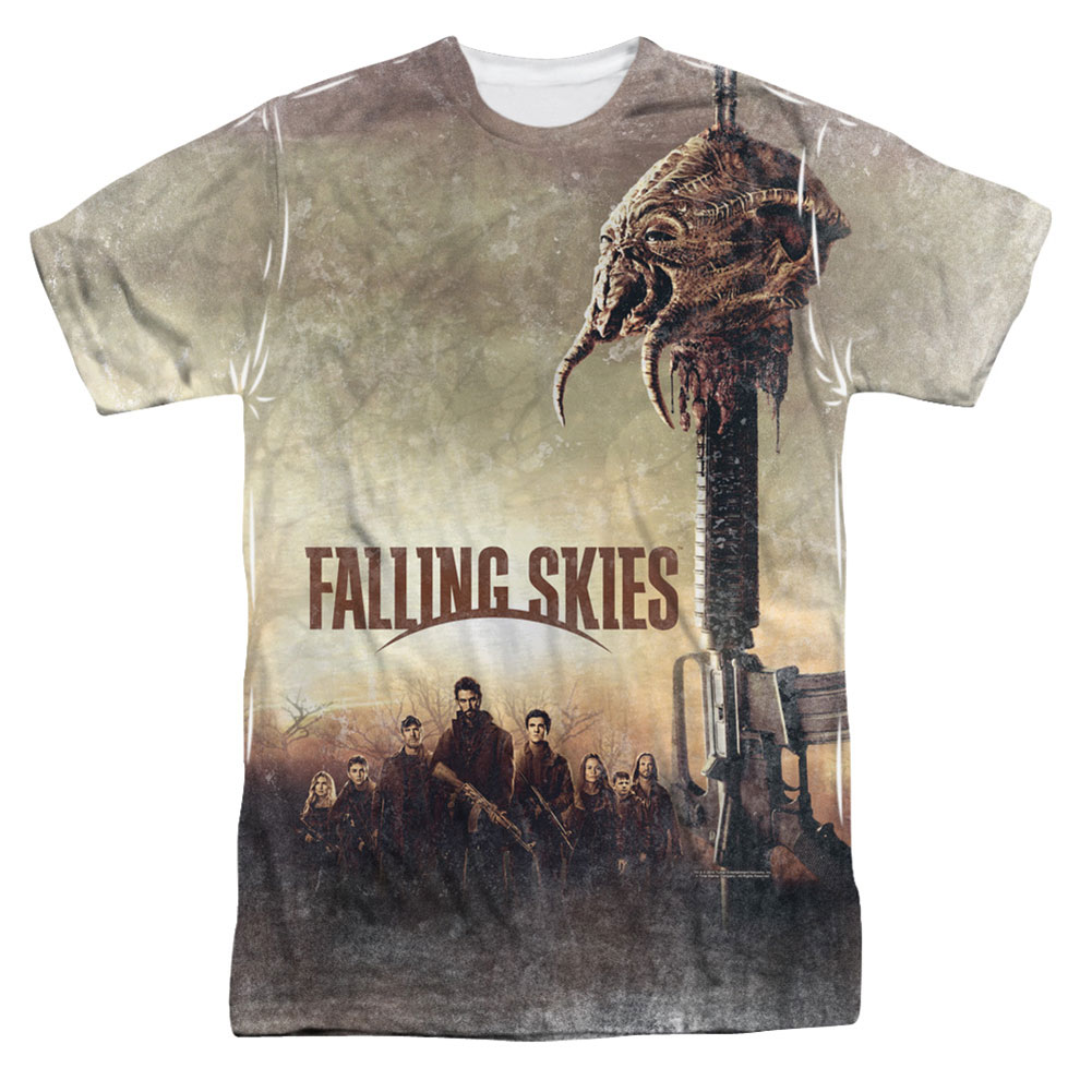Falling Skies Men's  Skitter Head Sublimation T-shirt White
