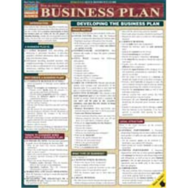 BarCharts- Inc.  9781572228115 How To Write A Business Plan