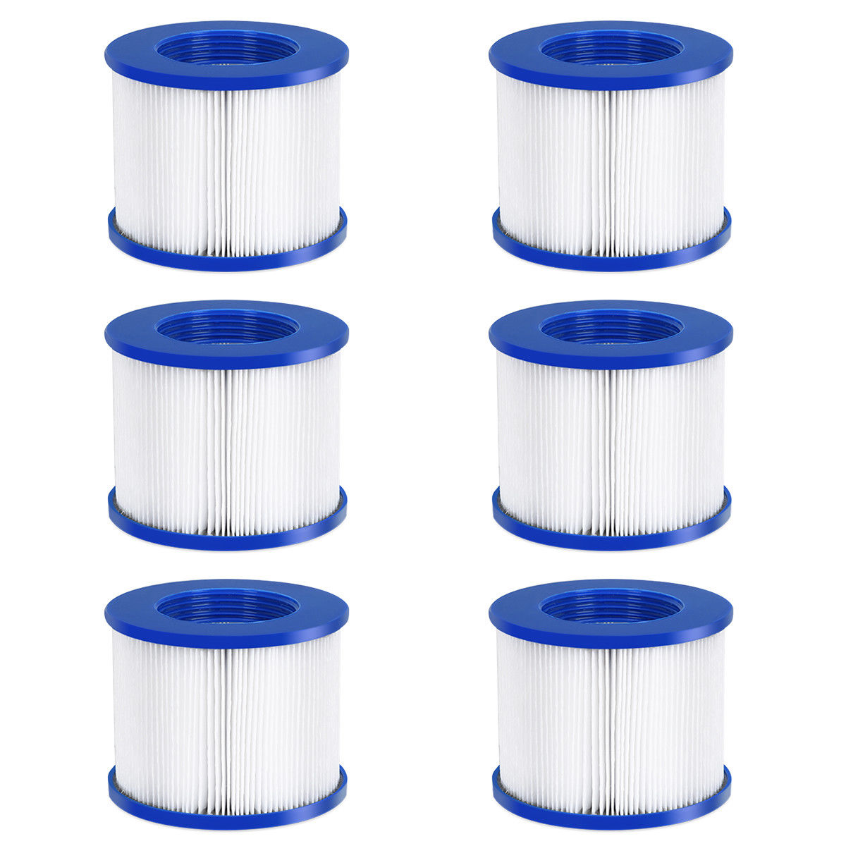 Goplus 6 Pack Hot Tub Pool Spa Filter Cartridge Pump Replacement 120 Fold Easy Set
