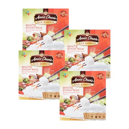 (4 Pack) Annie Chun's Rice Express, White Sticky Rice, 7.4