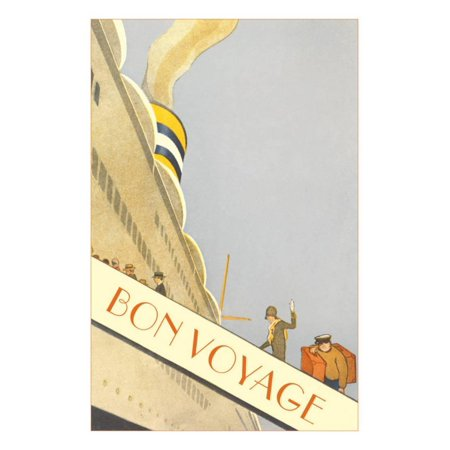 Bon Voyage, Going up the Gangplank Print Wall Art](Bon Voyage Decorations Ideas)
