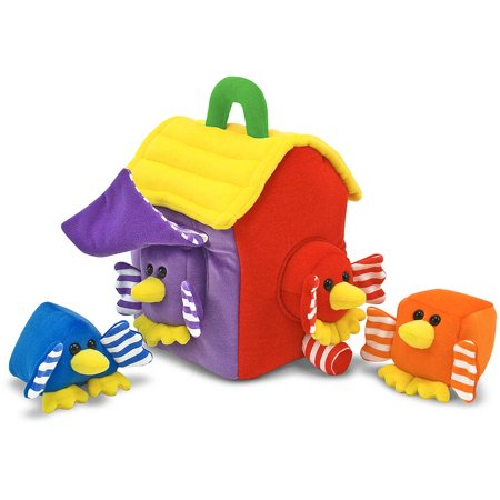 Melissa & Doug Bird House Shape Sorter Soft Baby and Toddler Toy With Handle