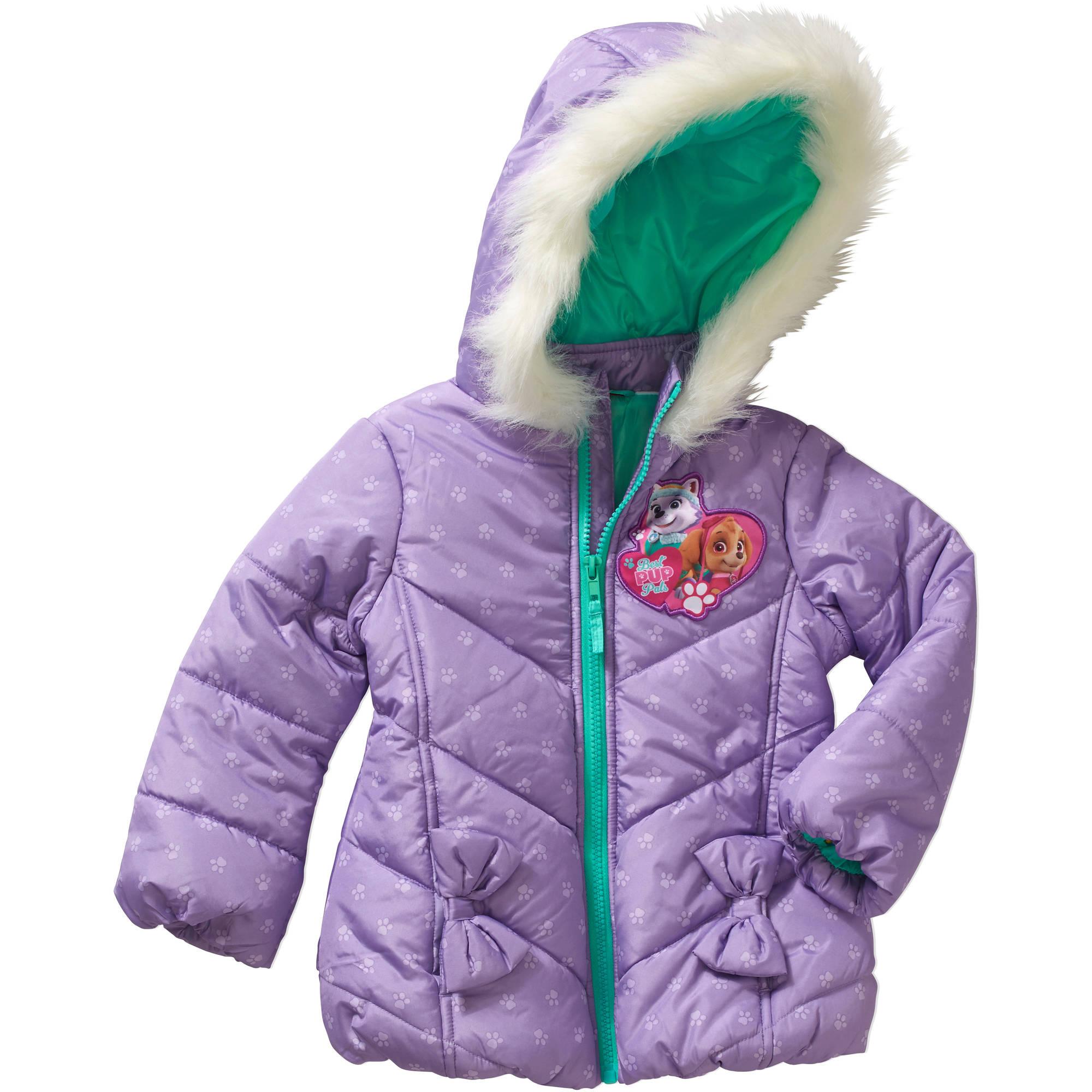 Nickelodeon Paw Patrol Toddler Girls' Faux Fur Puffer Jacket