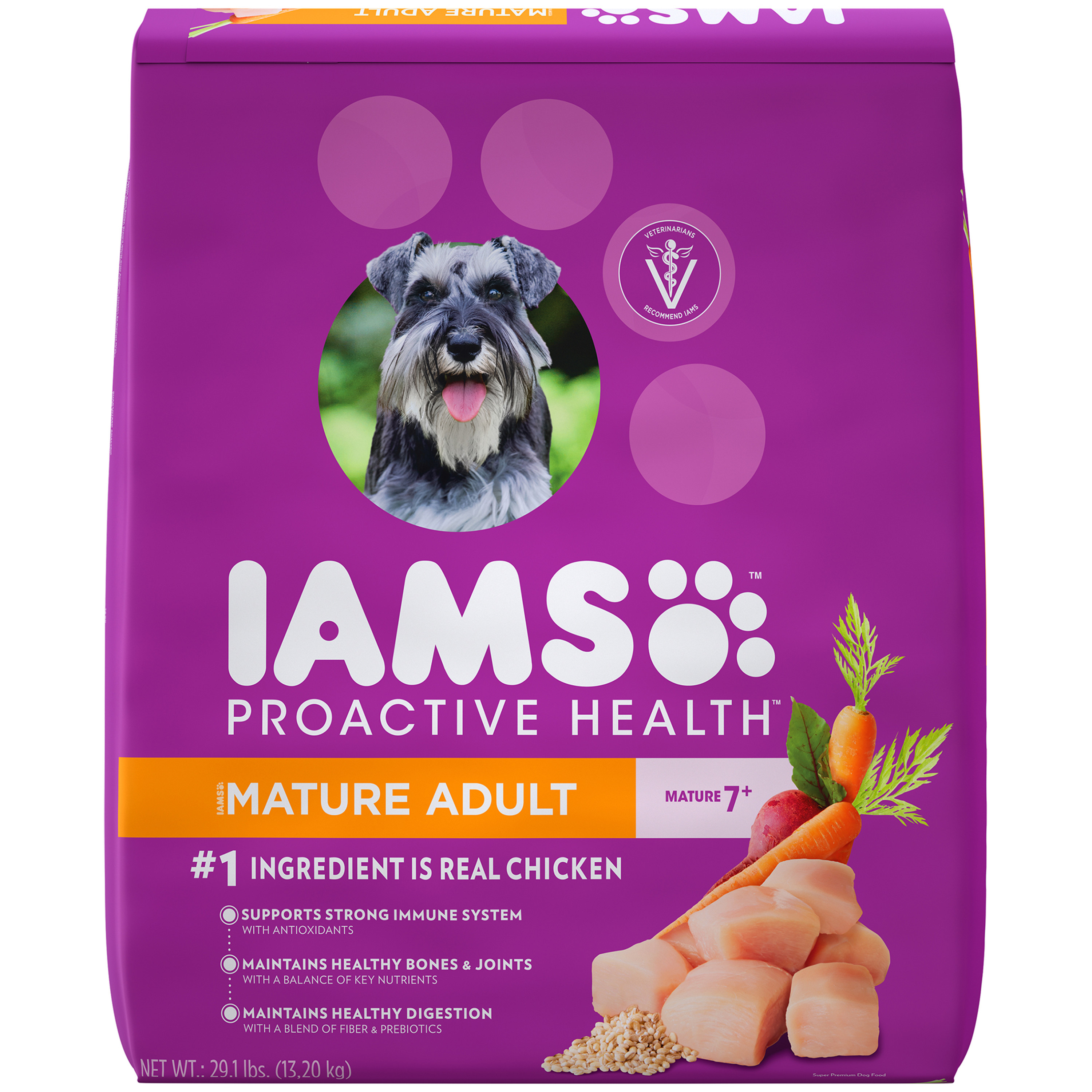 Iams Proactive Health Mature Dry Dog Food, Chicken, 29.1 Lb