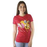 Adventure Time Lady Rainicorn Princess Bubblegum Finn Jake Women's Red T-Shirt
