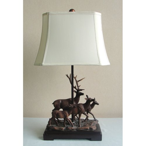 Santa's Workshop Herd of Deer 29'' Table Lamp