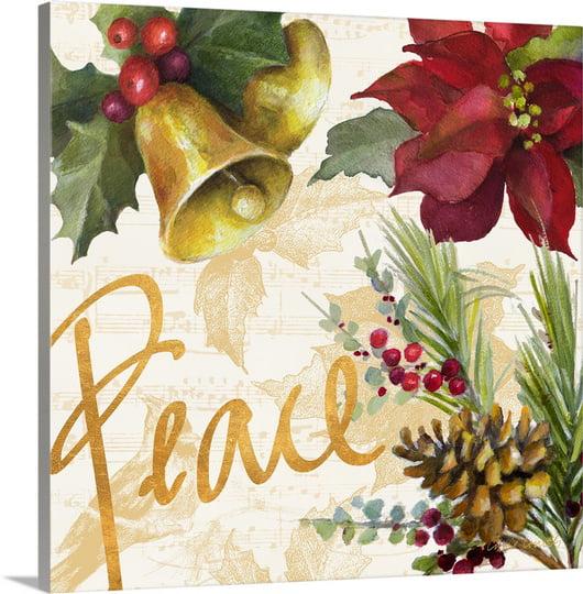 Great BIG Canvas   Lanie Loreth Premium Thick-Wrap Canvas entitled Christmas Poinsettia II