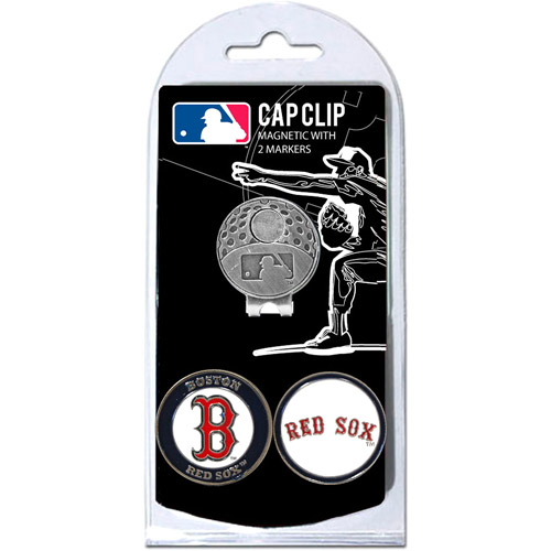 Team Golf MLB Boston Red Sox Cap Clip With 2 Golf Ball Markers
