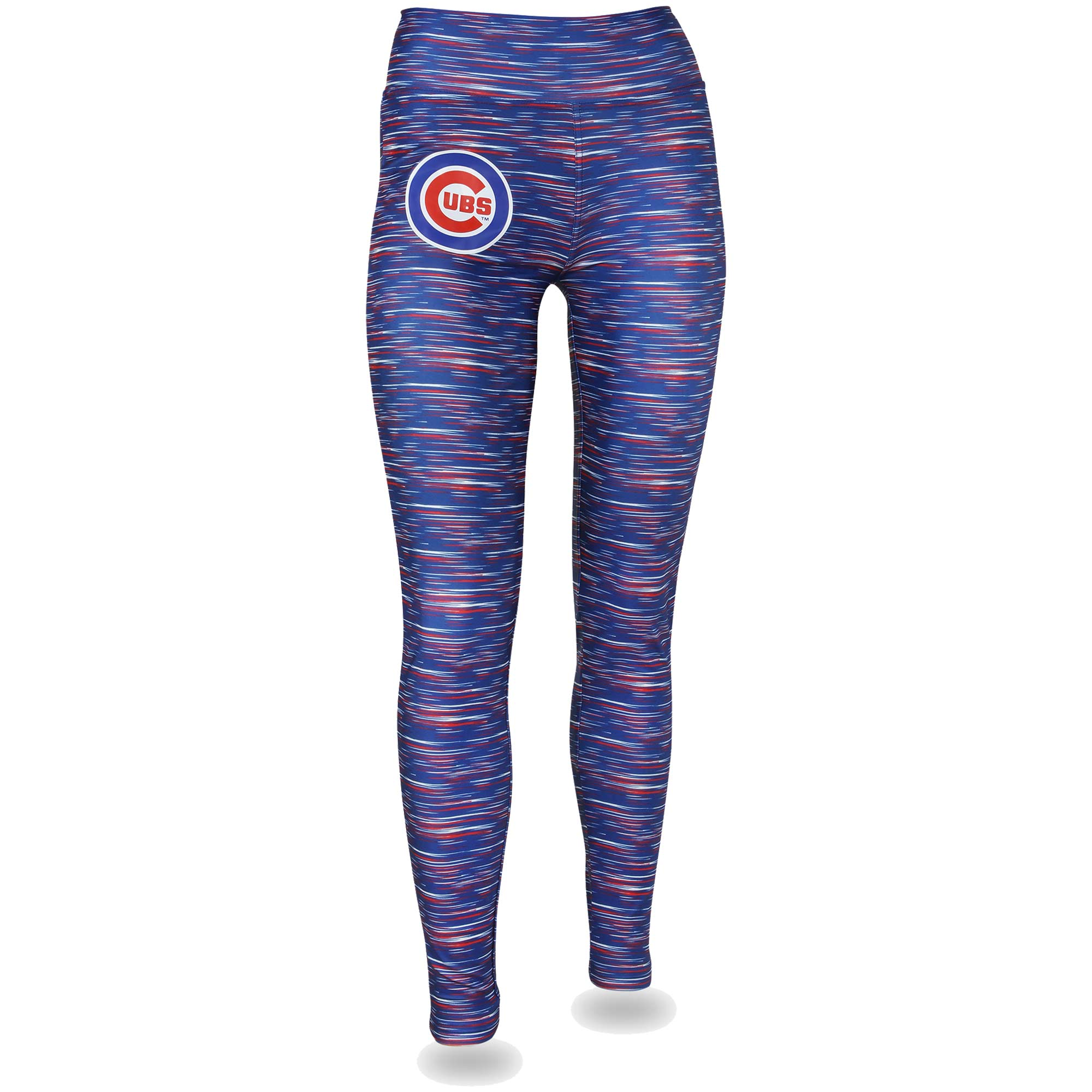 Women's Royal/Red Chicago Cubs Space Dye Leggings